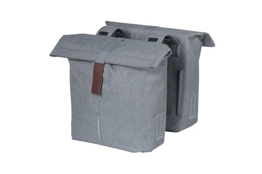 Basil City divpusējā velo soma grey melle