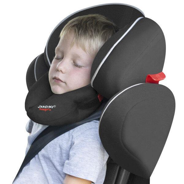 Bērnu ceļojumu spilvens SleepFix® Kids BASIC, melns